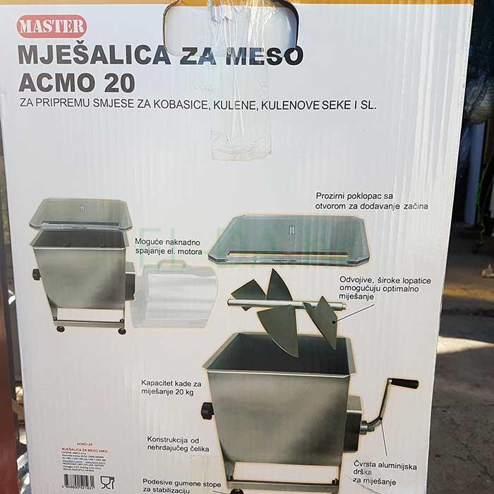 Acmo inox ručna mješalica za meso 20kg-4