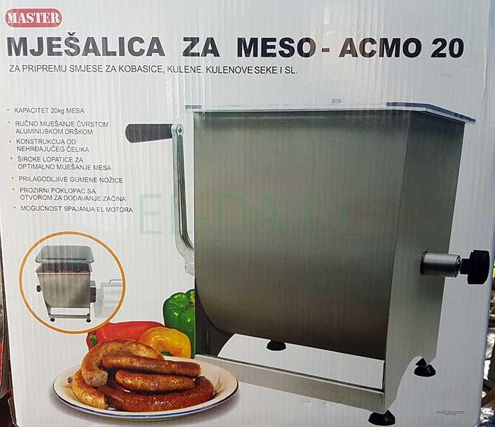 Acmo inox ručna mješalica za meso 20kg-3